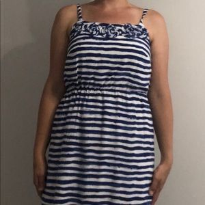 Blue and white striped dress by LOFT